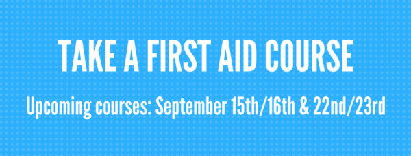 TAKE A FIRST AID COURSE
